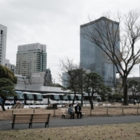 Tokyo's Marunouchi business district in March | BLOOMBERG