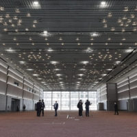 The Osaka International Convention Center has been selected as a site for a government-run mass vaccination hub as the country seeks to speed up its COVID-19 vaccination campaign. | KYODO