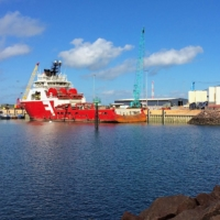 Supply vessels for offshore gas rigs at Darwin port in northern Australia | REUTERS
