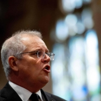 China has sought to blame Australia for the downturn in ties while accusing Prime Minister Scott Morrison's government of 'economic coercion.' | AFP-JIJI