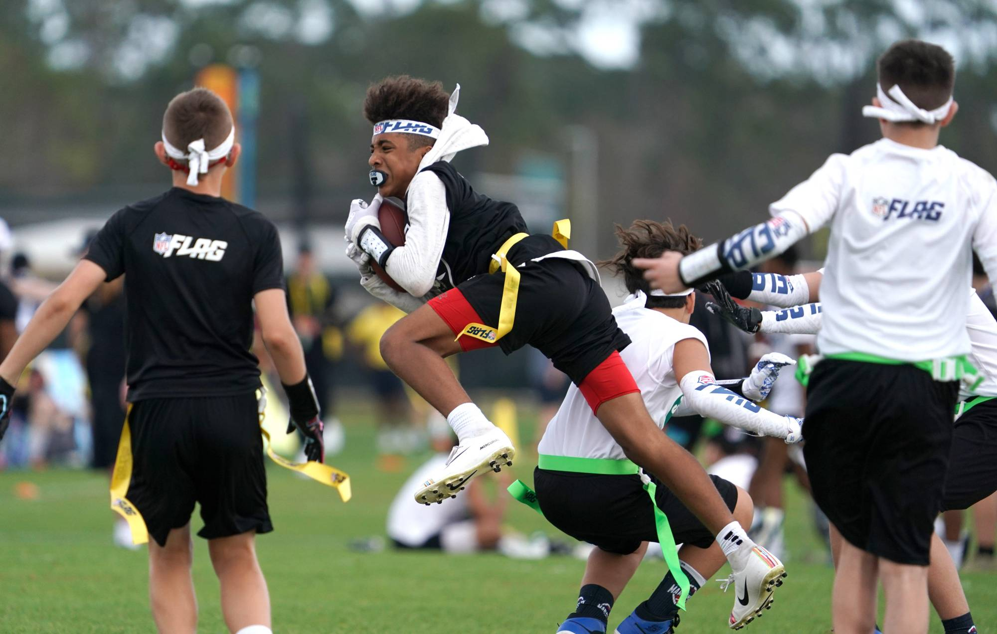 The NFL has shifted its grassroots efforts toward flag football in the last few years as part of its global strategy. | USA TODAY / VIA REUTERS
