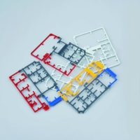 Plastic frame sections from Gundam models that are usually thrown away. | BANDAI NAMCO HOLDINGS / VIA KYODO