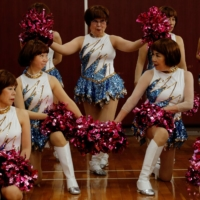 'The costumes are unbelievably showy. Some people join just so they can wear them,' says Japan Pom Pom founder Fumie Takino.   REUTERS
