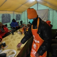 A canteen at Everest base camp on May 1.  | AFP-JIJI