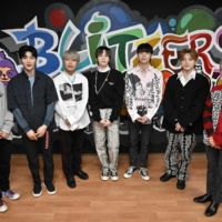 Taking their shot: The members of Blitzers pose for a photo at a rehearsal studio in Seoul. | AFP-JIJI