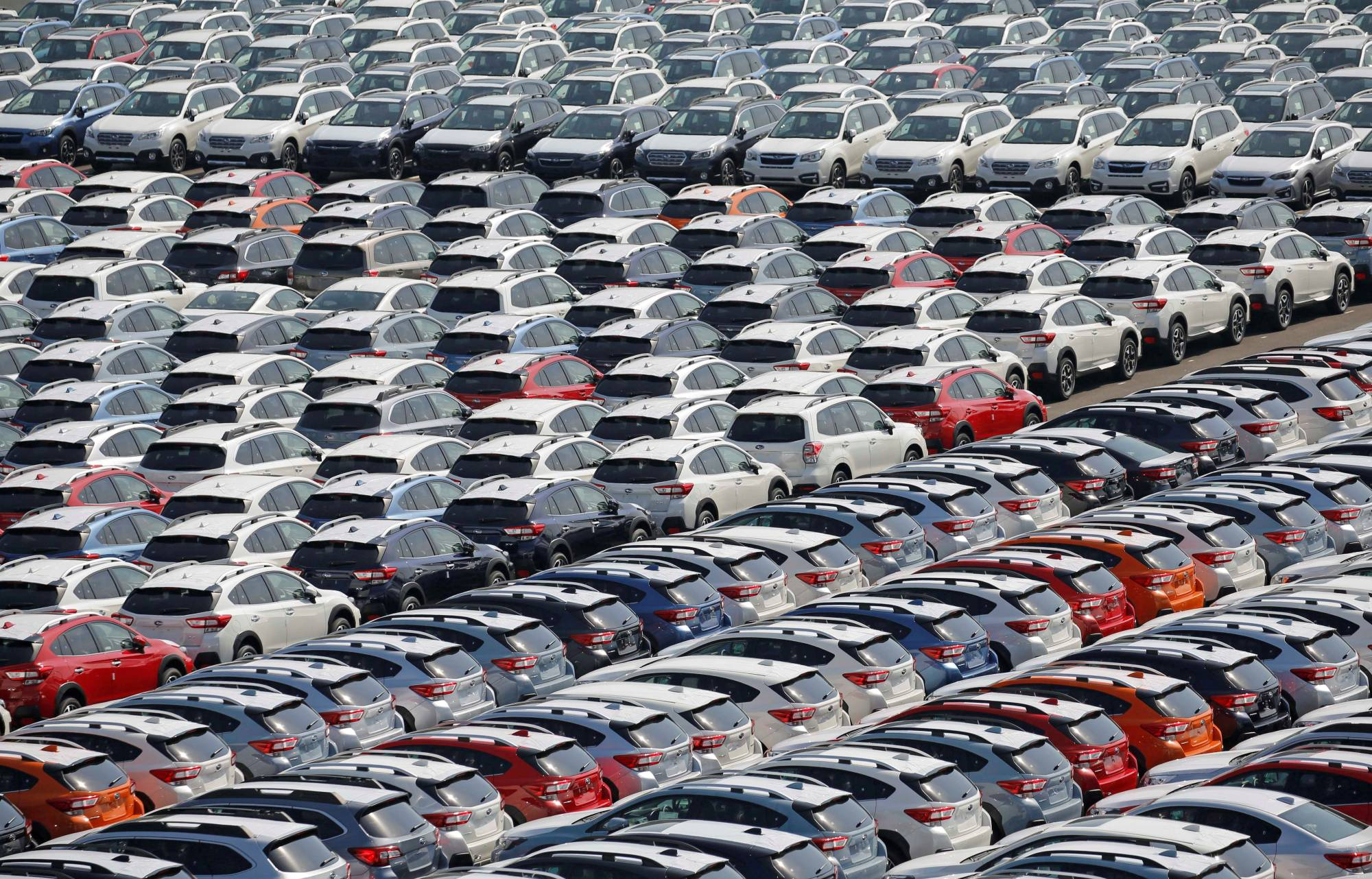 The government said car exports had grown remarkably during the reporting period.   REUTERS