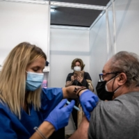 A mass vaccination center in Barcelona | BLOOMBERG