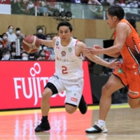 Jets guard Yuki Togashi will be trying to get his team, which has been the league runner-up the last two seasons, over the hump in the playoffs this year.  | KAZ NAGATSUKA