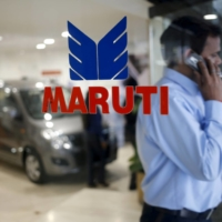 A Maruti Suzuki India showroom in 2016. According to Suzuki, about 80% of its stores in India are currently closed and the firm doesn't know when they will be able to reopen.   REUTERS