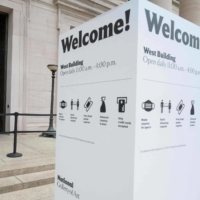 The entrance to the National Gallery of Art in Washington on Friday   AFP-JIJI