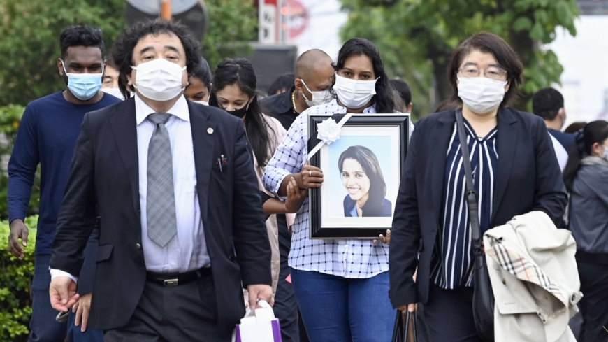 Family of Sri Lankan woman who died after Japan detention visits facility