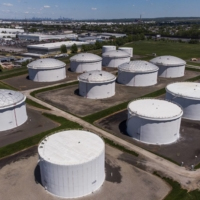 Storage tanks at a Colonial Pipeline Inc. facility in New Jersey | BLOOMBERG