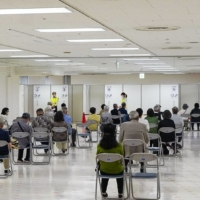 A department store is used as a mass vaccination venue in Yokosuka, Kanagawa Prefecture. | KYODO
