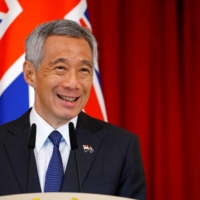 Singapore Prime Minister Lee Hsien Loong speaks at the Istana in Singapore in June 2019.   REUTERS