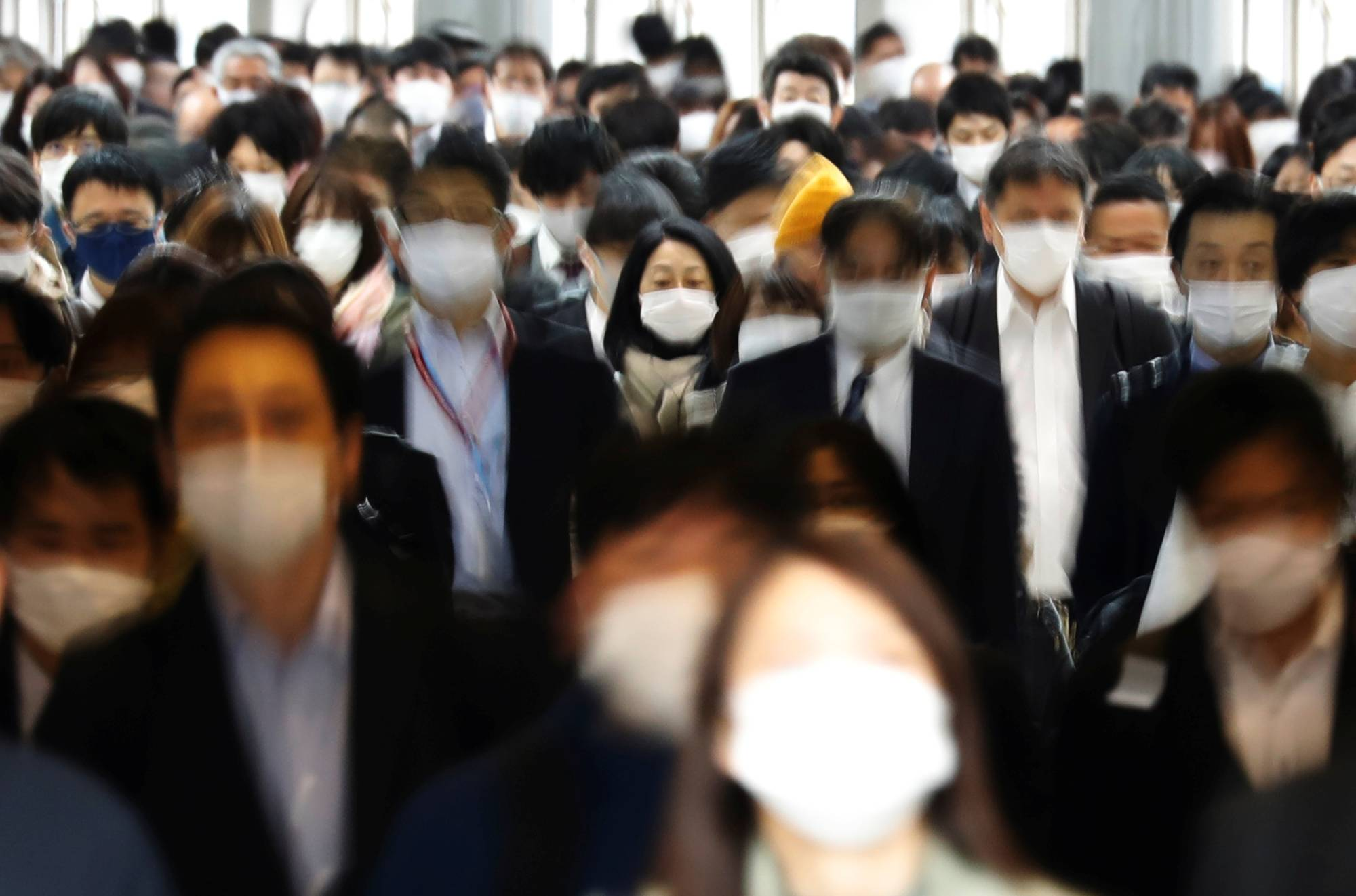 Sales of face masks in Japan rose 380% in 2020 year on year, according to figures compiled by market research firm Intage Inc. | REUTERS