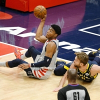 Wizards blast Pacers in play-in game to earn playoff berth
