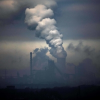 A coal-fired power station in Duisburg, Germany, spews smoke in January last year. The Group of Seven wealthy nations on Friday agreed to end state financing of coal-fired power plants by the end of this year. | AFP-JIJI