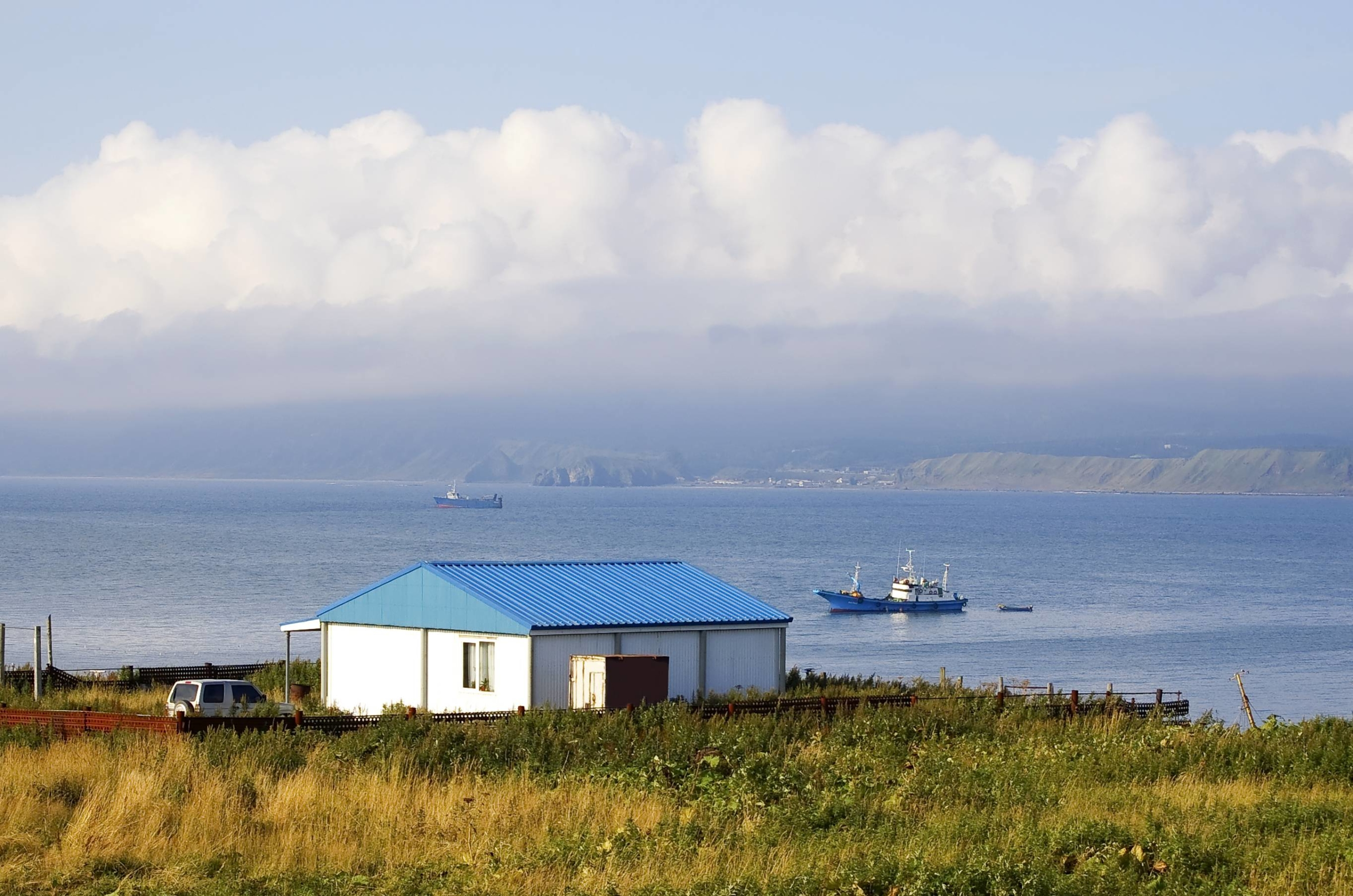 Russian-controlled Kunashiri Island, a disputed islet which is located in the Southern Kurils, as they are called in Russia, and which Japan calls the Northern Territories   GETTY IMAGES