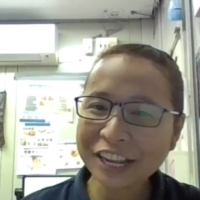 Kompyang Supartini of The Monogatari Corp. talked at one virtual job fair about difficulties in communicating with her Japanese colleagues, but added that her company offers Japanese-language lessons and training in business manners. | KYODO