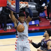 Rui Hachimura makes historic playoff debut as Wizards fall to 76ers in Game 1