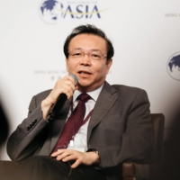 Lai Xiaomin, then the chairman of Huarong, attends the Boao Forum for Asia Financial Cooperation Conference in Hong Kong in 2016. | BLOOMBERG