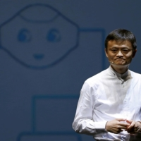Jack Ma, founder and executive chairman of China's Alibaba Group, speaks during a news conference in Chiba in 2015.    REUTERS