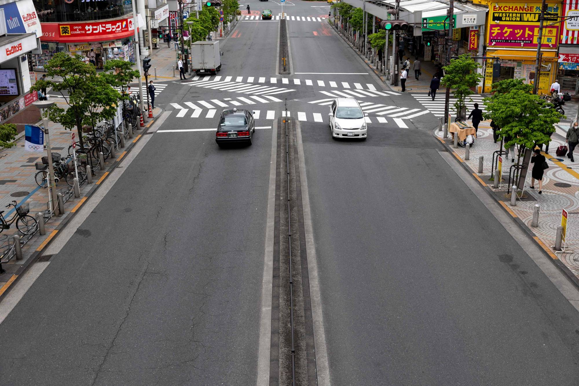 Streets in Tokyo have been quiet during the latest state of emergency in the capital. | AFP-JIJI