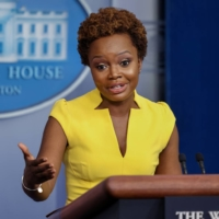 U.S. deputy press secretary Karine Jean-Pierre holds a press briefing at the White House in Washington on Wednesday. | REUTERS