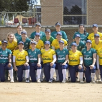 Australia's softball team will become the first Olympic delegation to arrive in Japan for the Tokyo Games on Tuesday. | SOFTBALL AUSTRALIA / VIA KYODO