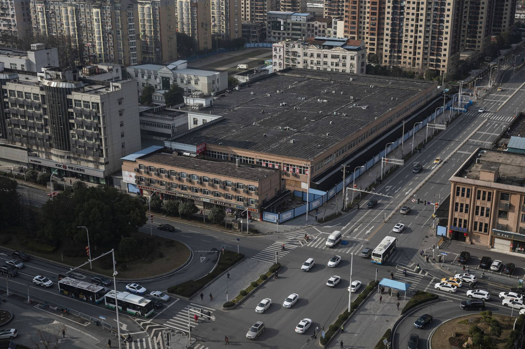 The Huanan seafood market in Wuhan, China   BLOOMBERG