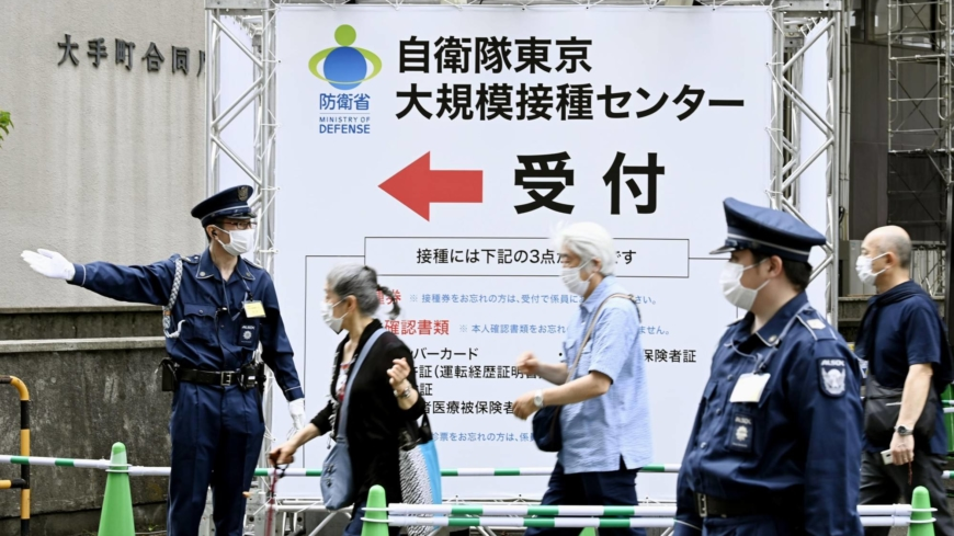 Large-scale vaccination centers in Tokyo and Osaka now offer 15,000 shots daily