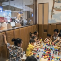 A children's play area at a restaurant in Beijing in June 2018. China has  increased the number of children married couples are legally permitted to have, from two to three, in an effort to stave off a looming crisis as the birthrate in the world's most populous country steadily falls. | GILLES SABRIE / THE NEW YORK TIMES