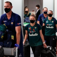 Australia's softball squad becomes first to arrive for Olympics