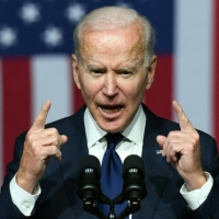 U.S. President Joe Biden speaks during a commemoration of the 100th anniversary of the race massacre in Tulsa, Oklahoma, in the city on Tuesday.    AFP-JIJI