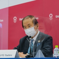 Tokyo 2020 CEO Toshiro Muto says about 10,000 volunteers for the games have quit.   REUTERS