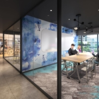 Conference rooms will be available for residents of Park Tower Kachidoki Mid, a 45-story, 159-meter-tall, 1,100-unit residential and commercial tower being constructed in Kachidoki, a bayside area in central Tokyo. | COURTESY OF MITSUI FUDOSAN RESIDENTIAL CO.