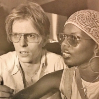 Ash Hudson's mother, Ola (right), worked with many music icons including David Bowie, pictured with her here.  |