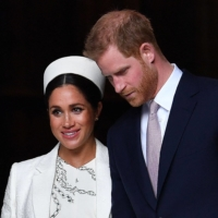 Britain's Prince Harry and Meghan depart after attending a Commonwealth Day Service at Westminster Abbey in central London in 2019. | AFP-JIJI