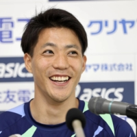 Yamagata is the fourth Japanese sprinter to break the 10-second barrier. | POOL / VIA KYODO