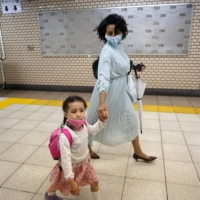 'It's hard to get into public day care, and private day care is expensive,' Tokyo-based self-employed brand consultant Teni Wada says. | MARA BUDGEN