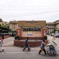 The Sawai Man Singh Hospital in Jaipur, India, on June 3. While the virus has affected the poor across the globe, the impact has been exponentially greater for some in countries like India where public spending on health care is among the lowest in the world.   BLOOMBERG