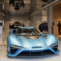 A Nio Inc. EP9 electric vehicle at a Nio House in Shanghai | BLOOMBERG