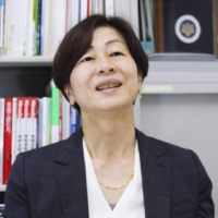 Japanese Olympic Committee board member Kaori Yamaguchi speaks during an interview in May.  | KYODO