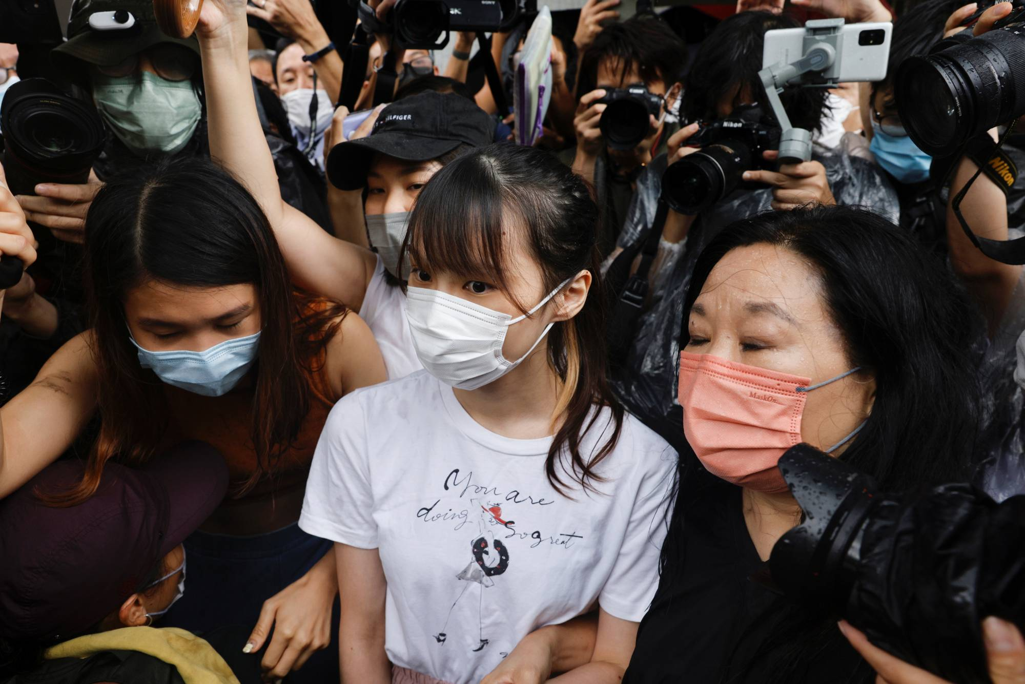 Pro-democracy activist Agnes Chow is released from prison Saturday after serving nearly seven months for her role in an unauthorized assembly during Hong Kong's 2019 anti-government protests.   REUTERS