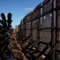 A border wall construction site in Sunland Park, New Mexico, after U.S. President Joe Biden signed an executive order halting construction of the U.S.-Mexico border wall.  | REUTERS