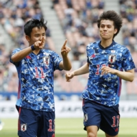 Japan U-24 routs Jamaica in last game before Olympic squad selection