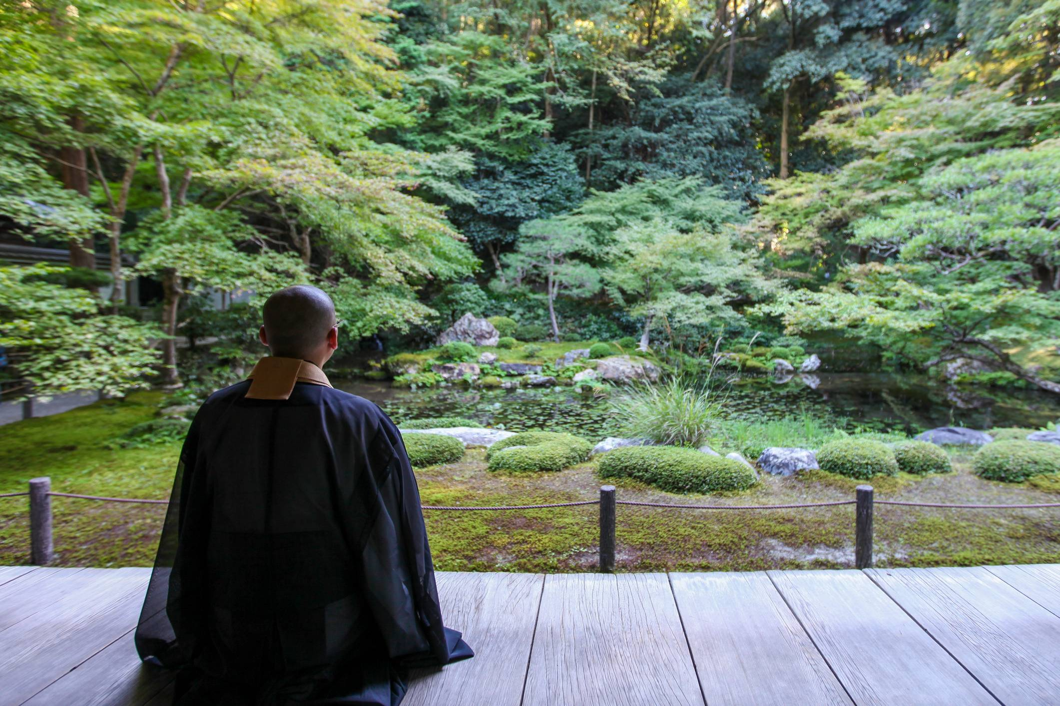 The quiet life: Meredith McKinney, who provided the translations for 'Three Japanese Buddhist Monks,' says, 'Reclusion is always somehow hovering there in the background of what Buddhism is — but it's not often in the foreground of what people generally think about Buddhism.'   GETTY IMAGES