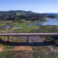 Low water levels in the Jacarei River during a drought at the Jaguari Reservoir near Joanopolis, Sao Paulo state, Brazil, on Sunday   BLOOMBERG