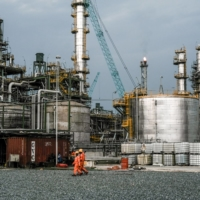 An oil refinery outside Lagos. The economy has yet to recover from the oil crash of 2014, and is unlikely to do so anytime soon, meaning its population will continue to outpace economic expansion — adding more poor to what is already the poverty capital of the world.   BLOOMBERG