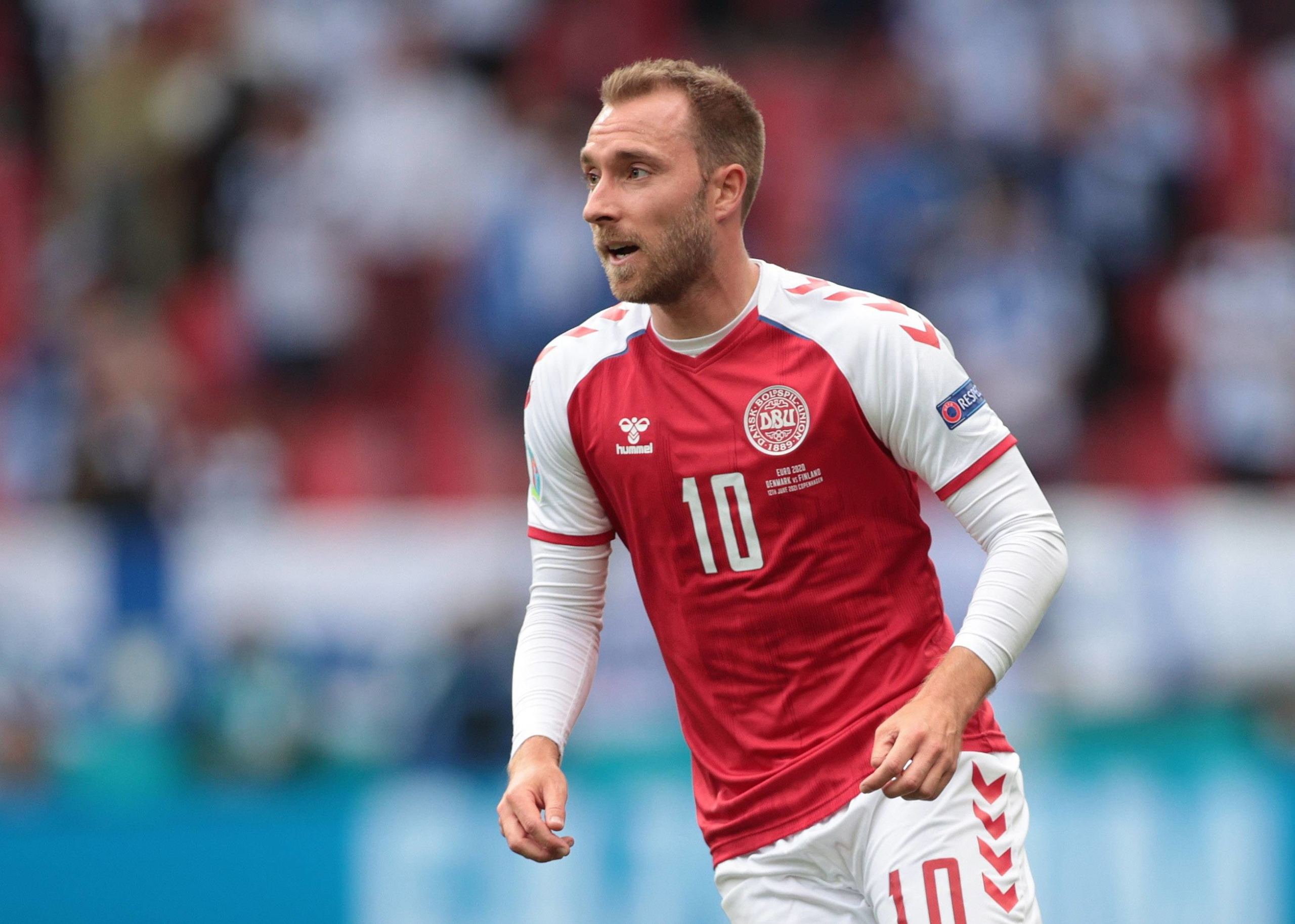 Denmark's Christian Eriksen suffered a cardiac arrest during his team's Euro 2020 match against Finland on June 12. | POOL / VIA REUTERS